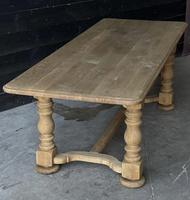 French Bleached Oak Refectory Farmhouse Dining Table (16 of 26)
