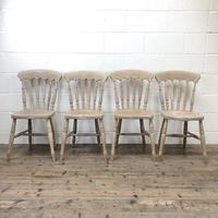Set of Four Antique Spindle Back Kitchen Chairs (3 of 9)