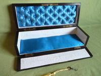 French Inlaid Amboyna Glove / Desk Box c.1870 (4 of 10)