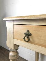 Victorian Antique Pine Two Drawer Side Table (2 of 13)