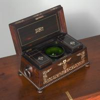 George IV Rosewood & Mother of Pearl Tea Caddy (3 of 11)