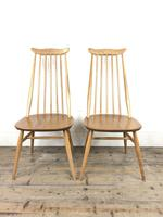 Pair of Ercol Blonde Elm Windsor Chairs (3 of 12)