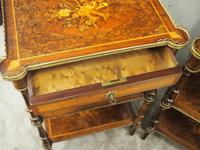 Pair of Victorian Marquetry Burr Walnut Etageres (10 of 12)