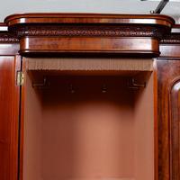 Triple Breakfront Wardrobe Mirrored Mahogany 19th Century (12 of 13)