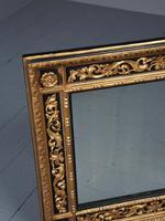 Antique Gilded & Ebonised Rectangular Wall Mirror (5 of 14)