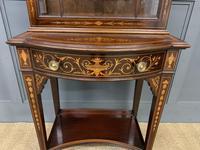 Edwardian Slender Inlaid Mahogany Display Cabinet (5 of 21)
