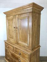 Antique Pine Cupboard with Drawers (10 of 11)