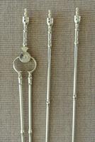 Quality Antique Adam Style Brass Fire Irons Companion Set Tongs Poker Shovel (2 of 9)
