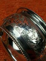 Antique Sterling Silver Hallmarked Napkin Ring 1901 John Rose (9 of 10)