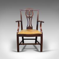Antique, Set of 6, Dining Chairs, English, Mahogany, Leather, Seats, Victorian (8 of 12)