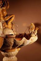Unusual Vallauris Illuminated Ceramic Wall Standing Fountain (10 of 11)