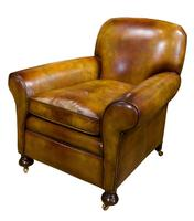 Pair of Leather Club Chairs c.1890 (6 of 11)