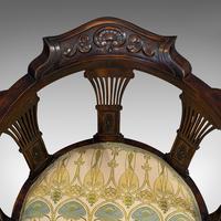 Antique Corner Armchair, French, Beech, Seat, Art Nouveau, Victorian c 1890 (11 of 12)