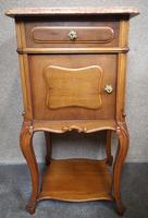 Pair of French Antique Walnut Bedside Cupboards / Night Stands c.1910 (6 of 9)