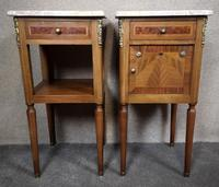 Pair of French Inlaid Mahogany Bedside Cupboards / Night Stands (3 of 14)