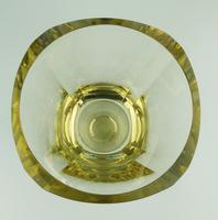 Fine Quality Scandinavian Art Deco Very Heavy Goblet Vase by Eda Citrine c.1931 (4 of 6)