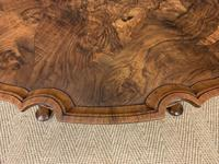 Queen Anne Style Round Burr Walnut Coffee Table (4 of 6)
