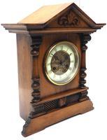 Light Mahogany Bracket Mantel Clock Architectural Striking 8 Day Mantle Clock (3 of 6)