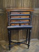 Walnut Collectors Cabinet on Stand (3 of 9)
