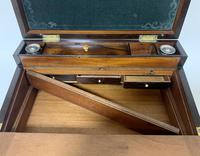 Superb Antique Rosewood Brass Inlaid Writing Slope Box with Double Hinge (7 of 12)