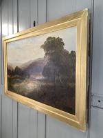 Antique Signed Victorian Landscape Oil Painting of Flock of Sheep (8 of 10)