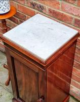Victorian Mahogany Bedside Cupboard With Marble Top (3 of 8)