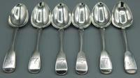 Set of Six Victorian Dessert Spoons London 1837 (2 of 9)
