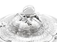 Sterling Silver Three Piece Zodiac Tea Service - Antique Victorian 1882 (13 of 24)