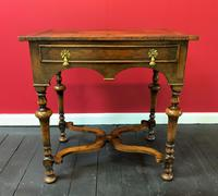 Outstanding William & Mary Style Leather & Stud Bound Country Oak Lowboy Table (9 of 18)