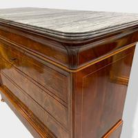 Exceptional Quality Inlaid Marble Top Commode (6 of 12)
