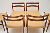 Set of 6 Danish Rosewood &  Leather Dining Chairs by Soren Willasden (6 of 12)