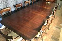 Mahogany Dining Table & Set of 10 Regency Style Chairs (7 of 19)