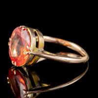 Antique Victorian 4.5ct Mexican Fire Opal Ring 9ct Gold Circa 1900 (3 of 6)