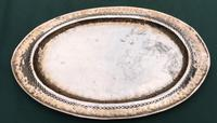 Arts & Crafts Oval Planished Copper Tray (3 of 4)