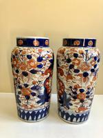Stunning Pair Of Japanese Imari Vases, Meiji Period Antique (5 of 10)