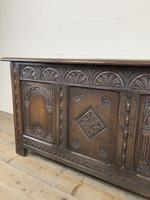 Early 20th Century Carved Oak Coffer or Blanket Box (12 of 12)