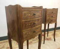 French Marquetry Kingwood Bedside Tables Rustic Distressed (10 of 13)