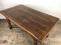 Extending Oak Draw Leaf Refectory Dining Table (11 of 17)