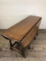 Early 20th Century Antique Oak Gateleg Dining Table (5 of 13)
