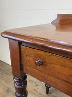Antique Victorian Mahogany Two Drawer Side Table (12 of 15)