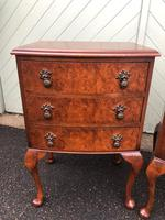 Pair of Antique Burr Walnut Bedside Chests (2 of 9)