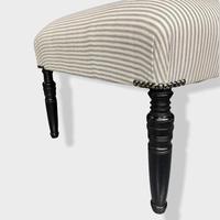 19th Century Footstool on Ebonised Legs (8 of 9)