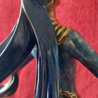 "Erte (romain De Tirtoff) Ltd Edition Bronze Sculpture ""Ecstasy"" 163/500 (12 of 16)"