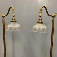 Pair of Adjustable Brass Standard Lamps (4 of 7)