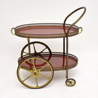 1960's Vintage French Brass Drinks Trolley (2 of 13)