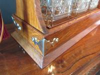 Late Victorian Polished Oak Three Bottle Tantalus (5 of 10)