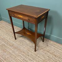 Elegant Edwardian Inlaid Mahogany Antique Side Table (3 of 6)