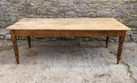 Large Antique Pine Farmhouse Table on Turned Legs (15 of 19)