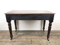 Edwardian Mahogany Two Drawer Side Table (2 of 11)