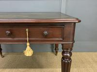 Victorian Mahogany 2 Drawer Reeded Leg Writing Table (4 of 15)